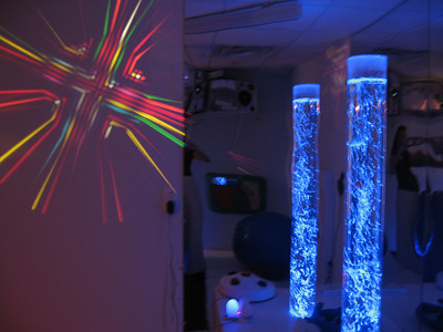 sensory room at speech therapy clinic